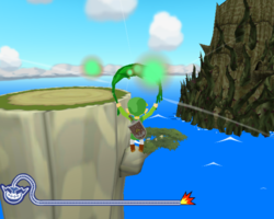 The Wind Waker in WarioWare: Smooth Moves.