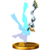 Zero Suit Samus's alternate trophy, from Super Smash Bros. for Wii U.