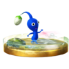 Blue Pikmin trophy from Super Smash Bros. for Wii U