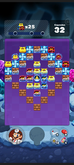 Stage 483 from Dr. Mario World
