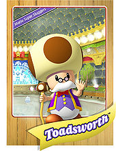Level 1 Toadsworth card from the Mario Super Sluggers card game