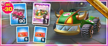 The Koopa King Pack from the 2021 Trick Tour in Mario Kart Tour