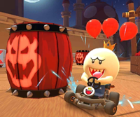 The icon of the King Boo Cup challenge from the Ice Tour and the Toad Cup challenge from the Cat Tour in Mario Kart Tour