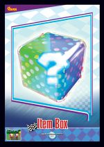 The Item Box card from the Mario Kart Wii trading cards