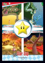 Mario Kart Wii trading card of the Star Cup.