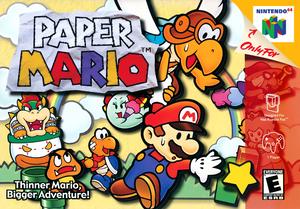 North American box art for Paper Mario