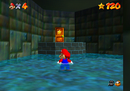 Mario in the basement of Mushroom Castle