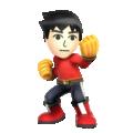 Solo artwork of the Mii Brawler in Super Smash Bros. for Nintendo 3DS/Wii U