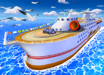 The icon for Daisy Cruiser, from Mario Kart Double Dash!!