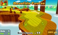 Hole 1 of Mountain Course in Mario Golf: World Tour