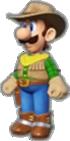 Luigi's Cowboy Outfit icon in Mario Kart Live: Home Circuit