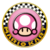 The icon of the Toadette Cup from Mario Kart Tour.