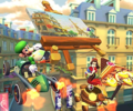 The icon of the Monty Mole Cup challenge from the 2021 Paris Tour in Mario Kart Tour.