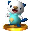 Trophy of Oshawott in Super Smash Bros. for Nintendo 3DS.