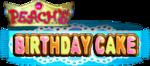 Logo for Peach's Birthday Cake