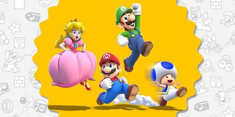 The primary cast of Super Mario 3D World