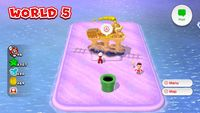 Coin Express from World 5 in Super Mario 3D World.