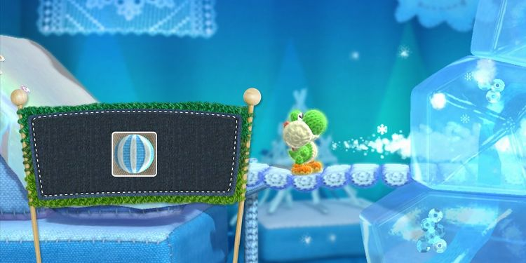 Picture shown with the second question in Yoshi's Woolly World Power Badges Quiz