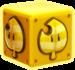 Artwork of an Assist Block, from Super Mario 3D World.