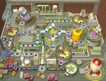 The board of E. Gadd's Garage during the day in Mario Party 6