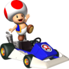 Toad artwork from Mario Kart DS