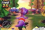 Alleged screenshot or mockup of a Game Boy Advance tech demo featuring a Purple Yoshi targeting its tongue towards an enemy on the right. Along with a meter gauge on the lower left, a star icon to the lower right, and a timer on the upper left.