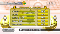 Success Rates for Dodgeball, in Mario Sports Mix.