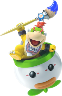 Bowser Jr. with his Junior Clown Car and Magic Paintbrush