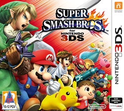 European boxart for Super Smash Bros. for Nintendo 3DS, as localized for South Africa.