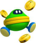 Artwork of a Coin Coffer that appears in Super Mario 3D Land