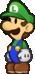 Luigi as he appears in Super Paper Mario.