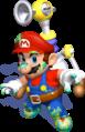 Mario Dirty Graffiti Artwork - Super Mario Sunshine.png