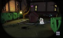 The Mudroom Exterior in Luigi's Mansion: Dark Moon