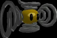 Rendered model of the Banekiti enemy in Super Mario Galaxy.
