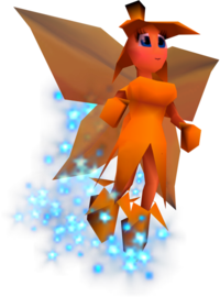 A Banana Fairy from Donkey Kong 64 (not to be confused with the Banana Fairy Princess)