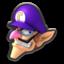 Waluigi's head icon in Mario Kart 8