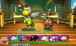 Screenshot of World 1-Airship, from Puzzle & Dragons: Super Mario Bros. Edition.
