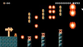 Jump for It! level in Super Mario Maker
