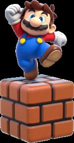Artwork of Small Mario from Super Mario 3D World.