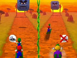 The minigame Desert Dash.