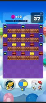 Stage 165 from Dr. Mario World