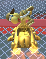 Gold Koopa (Freerunning) performing a trick.