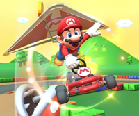 The icon of the Toadette Cup challenge from the Mario Bros. Tour and the Metal Mario Cup challenge from the Rosalina Tour in Mario Kart Tour