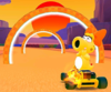 The icon of the Toad Cup challenge from the Sunset Tour and the Birdo Cup challenge from the 2021 Trick Tour in Mario Kart Tour