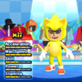Super Sonic Mii Costume in the game Mario & Sonic at the London 2012 Olympic Games for the Wii.