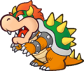 A sprite of Bowser for his appearance in Paper Mario: The Thousand-Year Door.