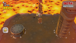 Fire Bros. Hideout #2 from World 5 in Super Mario 3D World.