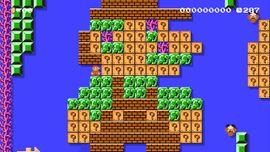 Sunken Mario level in Super Mario Maker