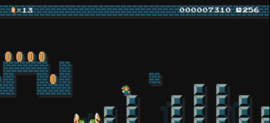 The sub area of the NES REMIX official course, from Super Mario Maker.