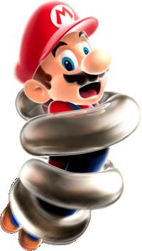 Spring Mario artwork from Super Mario Galaxy